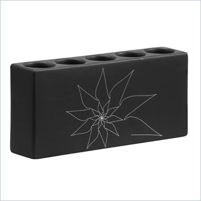 Zuo Blair Quintuple Candle Holder in Black