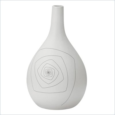 Zuo Blaise Round Vase Medium in White