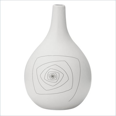 Zuo Blaise Round Vase Small in White