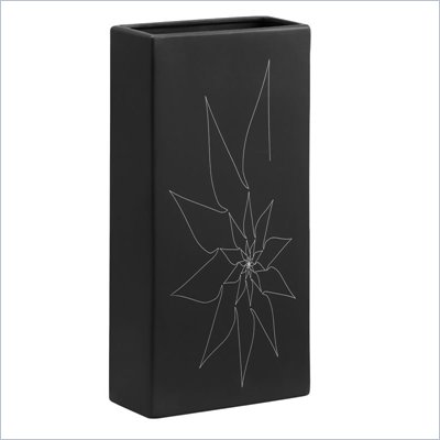 Zuo Blithe Rectangular Vase Large in Black