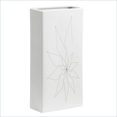 Zuo Blithe Rectangular Vase Large in White