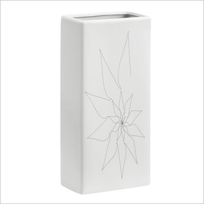 Zuo Blithe Rectangular Vase Medium in White