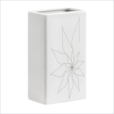 Zuo Blithe Rectangular Vase Small in White