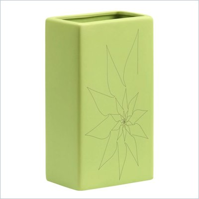 Zuo Blithe Rectangular Vase Small in Green
