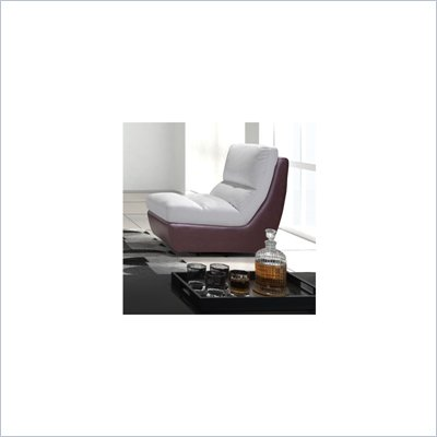 Zuo Bond Swivel Chair in White and Maroon 