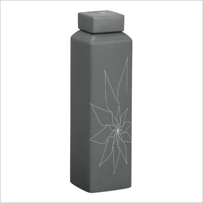 Zuo Bonnie Rectangular Vase Large in Gray