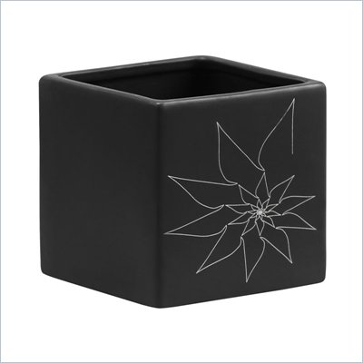 Zuo Brenda Square Vase Medium in Black
