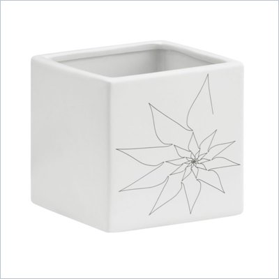 Zuo Brenda Square Vase Medium in White