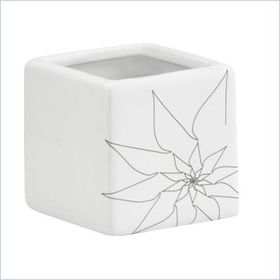Zuo Brenda Square Vase Small in White