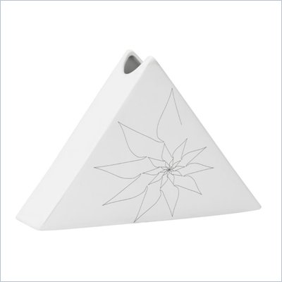 Zuo Bridget Triangular Vase Large in White