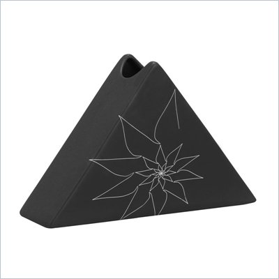 Zuo Bridget Triangular Vase Small in Black