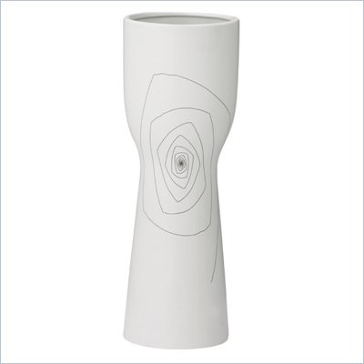 Zuo Brittany Chalice Vase Small in White