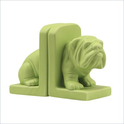 Zuo Bulldog Bookend in Green