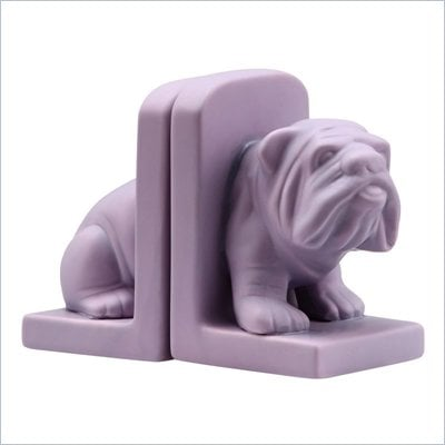Zuo Bulldog Bookend in Purple