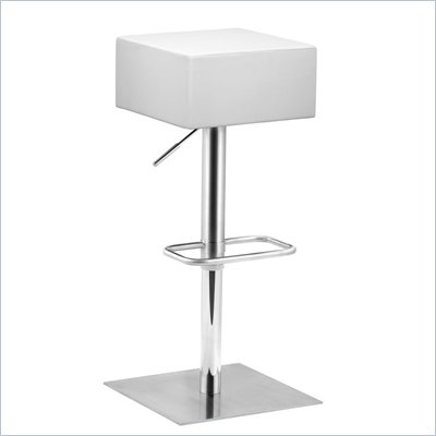 Zuo Butcher Barstool in White