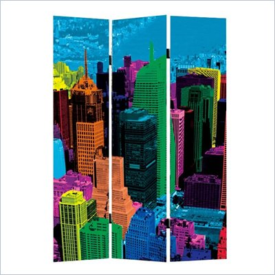 Zuo Cityscape Folding Screen in Multicolor