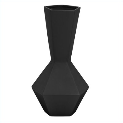 Zuo Corinthian Vase in Black