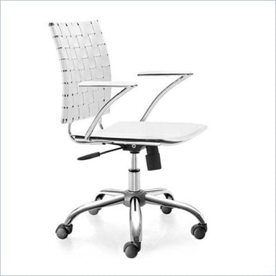 Zuo Criss Cross Office Chair White