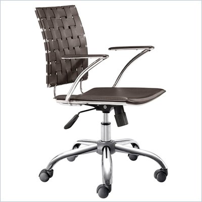 Zuo Criss Cross Office Chair Espresso