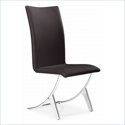 Zuo Delfin Dining Chair in Espresso