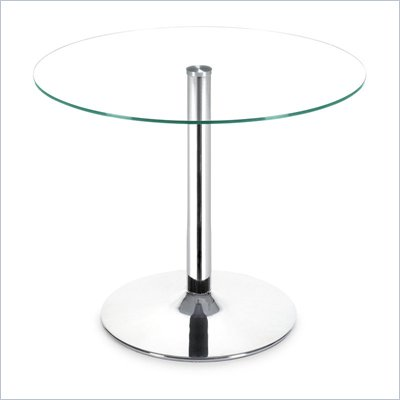 Zuo Galaxy Casual Glass Top Dining Table with Chrome Base