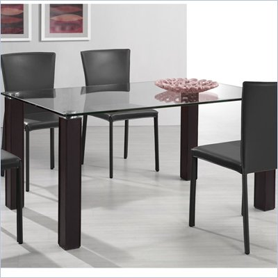 Zuo Flag Casual Dining Table with Glass Top