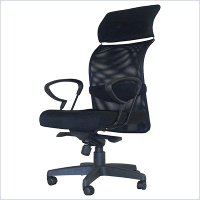 Zuo Black Nylon Fiber Mesh Seat and Back Eco Office Chair