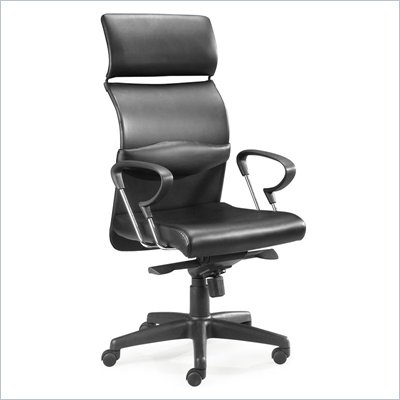 Zuo Eco Office Chair Black Leatherette