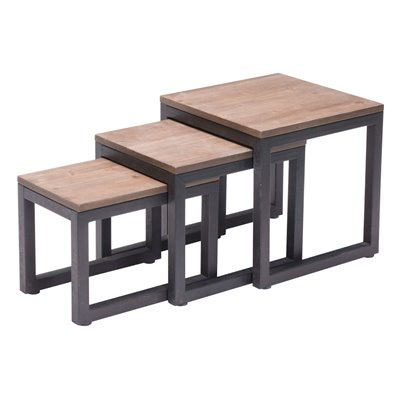Zuo Civic Center Nesting Table ins Distressed Natural