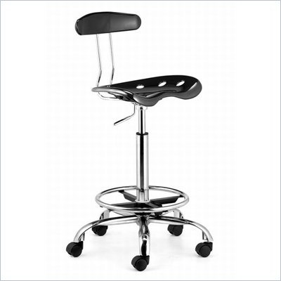 Zuo Farallon Drafters Chair in Black
