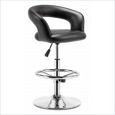 Zuo Flute Bar Chair in Black