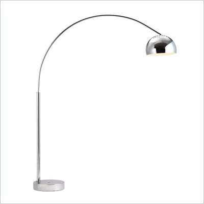 Zuo Galactic Floor Lamp in Chrome