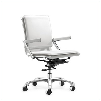 Zuo Lider Plus Office Chair in White
