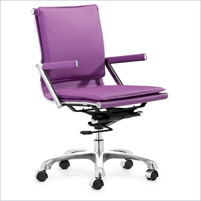 Zuo Lider Plus Office Chair Purple 