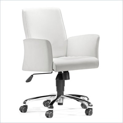 Zuo Metro Office Chair in White 