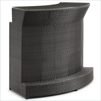 ZUO Negril Outdoor Synthetic Weave Bar in Espresso