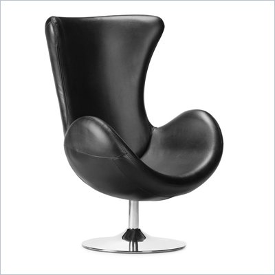 Zuo Andromeda Swivel Chair with Chrome Base
