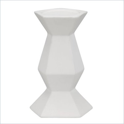 Zuo Pilar Candle Holder in White