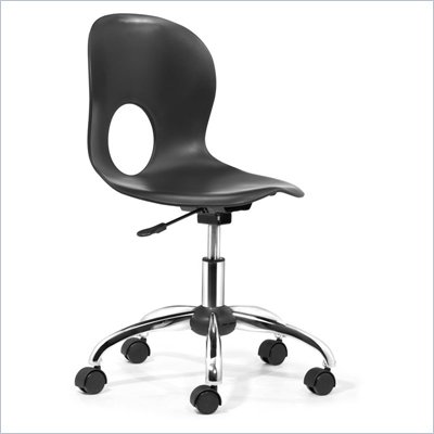 Zuo Pinhole Office Chair in Black 