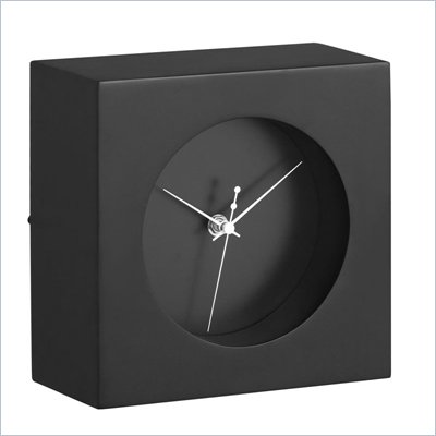 Zuo Porthole Table Clock in Black