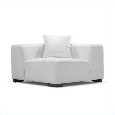 Zuo Portrait Sofa Corner in White 