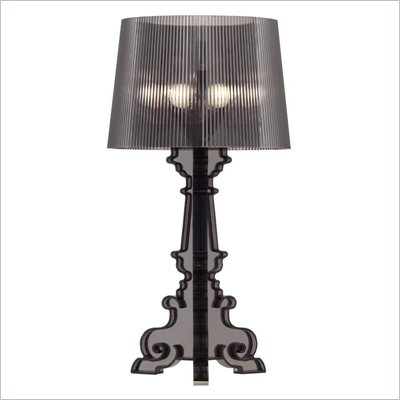 Zuo Salon Large Table Lamp in Translucent Black