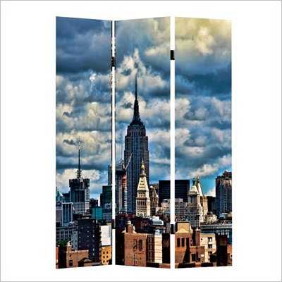 Zuo Skyline Folding Screen in Multicolor