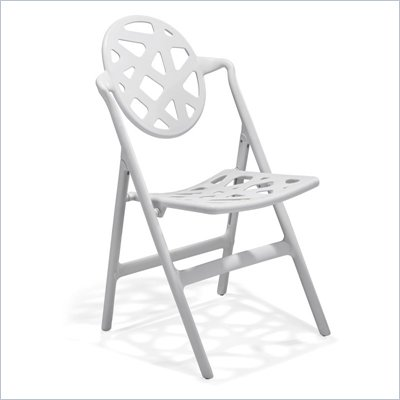 Zuo Stackable Meringue Folding Chair in White