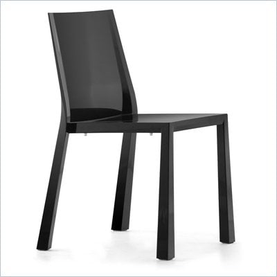 Zuo Stackable Popsicle Chair in Black