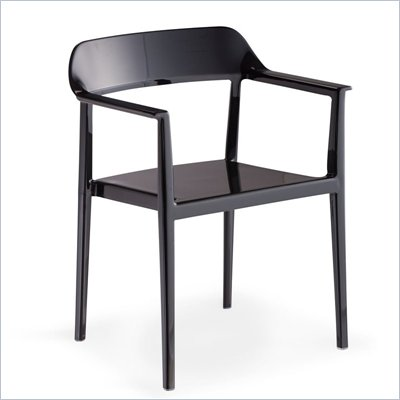 Zuo Stackable Delight Chair in Black
