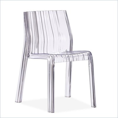 Zuo Stackable Ruffle Chair in Transparent