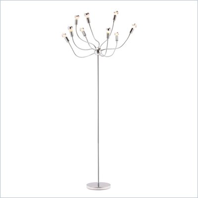 Zuo Stellar Floor Lamp in Chrome