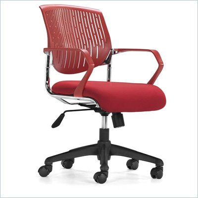 Zuo Synergy Office Chair in Red 