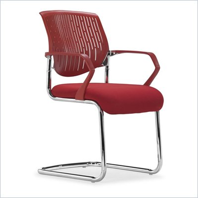Zuo Synergy Sled Conference Chair in Red